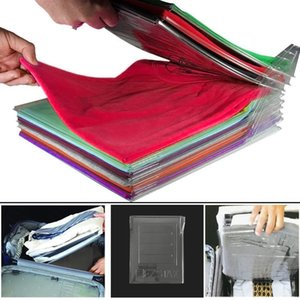 Wholesale 10Layer Clothes Organizer T Shirts Folding Board Office Desk File Cabinet Suitcase Shelf Dividers System Closet Drawer Organizat