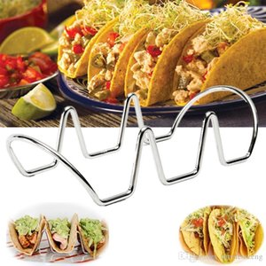 Wholesale taco holders for sale - Group buy Silver Taco Rack Holder Stainless Steel Food Rack Display Holder Pie Pancake Stand DIY Baking Decorating Tools