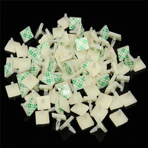Wholesale 100PCS Set HC Nylon Plastic Stick On PCB Spacer Standoff Locking Snap In Posts Fixed Clips Adhesive mm Hole Support