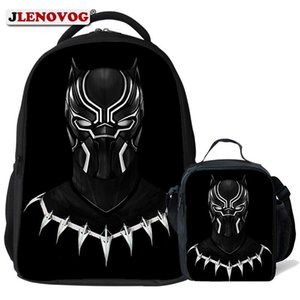 Black Panther School Bag Kids Personized Name Printed Marvel Backpack Book Bags Bagpack Schoolbag for Pupil Boys Teenagers 2018