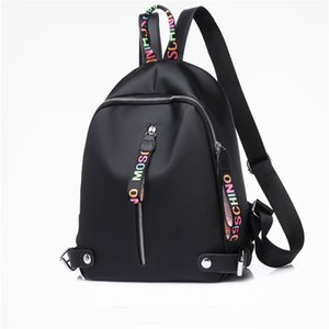 Wholesale designer backpack For Women Girls Large capacity Nylon backpacks with Black White Pink colors high quality Back pack Drop Shipping