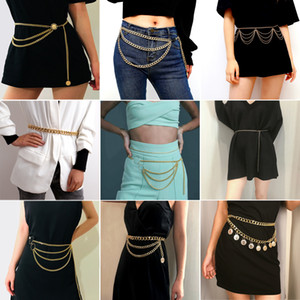 Wholesale 2019 Fashion Gold Plated Womens Designer Belly Chains Personality Stainless Steel Silve Chains Belt Fashion Accessories