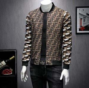 Wholesale European Station Men s Wear Designer Autumn New Men s Letter FF Printed Baseball Collar Jacket Korean Edition Self cultivation Youth Coat