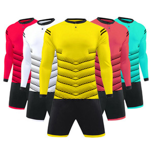 Best Selling Football Soccer Jersey Long Sleeve Children Kids Men Women Training Team Quick Dry Breathable Trendy Clothing Plus Size XXXL