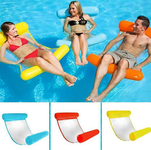 Wholesale New Inflatable Lounge Chair Pool Float Swimming Float Hammock Inflatabl Bed Lounger Floating Pool Party Toys Beach Air Mattress For Adults