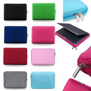 capas de ipad protetor macio venda por atacado-Laptop Soft Case Inch Laptop Bag Zipper manga tampa protetora estojos para Bolsas Notebook iPad MacBook Air Pro Ultrabook