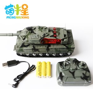 Wholesale electronic military resale online - Four way charging remote control tank early education story toy car military model tank car