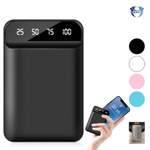 Wholesale Mini Portable Power Bank With LED Digital Display Charging PowerBank USB External Battery 4800 6000 8000 10000mAh For Mobile Phones