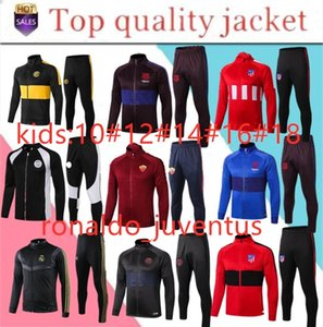 Wholesale 2019 Real Madrid KIDS BOYS soccer Real madrid kids soccer chandal football tracksuit Children s KIDS training suit jacket