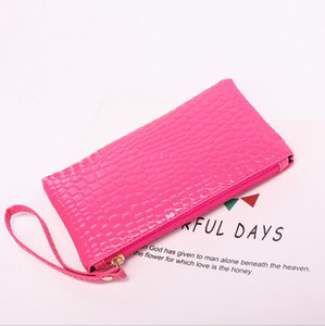 New low-cost cool cool crocodile pattern multiple colors to buy ladies hand to take light and practical pu coin purse