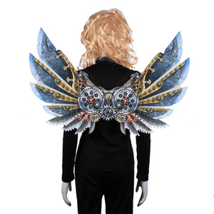 Carnival Party Unique Adult and kids Decoration Steam Punk Wings Costume Steampunk Accessories for Halloween Christmas