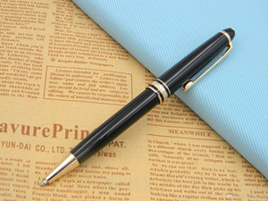 Wholesale New 163 golden black Luxury Lacquerred golden Clip Ballpoint Pen