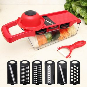 6 in 1 Kitchen Creative Mandoline Slicer Vegetable Cutter Stainless Steel Blade Manual Potato Peeler Carrot Graters Dicer Baking Cook Tools