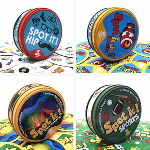 Educational Toy 55 Cards Spot It with Metal Box Kids Adult Game English Rules SPOT IT GAME