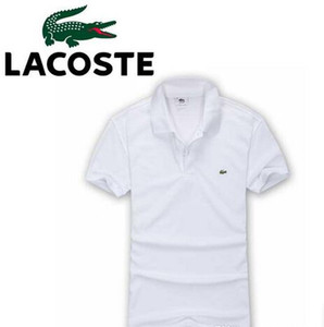New men's polo shirt Big Small Horse crocodile short sleeve shirt summer breathable solid male polo shirt Casual business menswear S-3XL