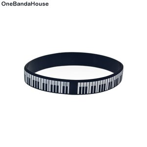 Wholesale piano keys for sale - Group buy 1PC Black and White Piano Keys Silicone Wristband Great To Used In Any Benefits Gift For Music Concert