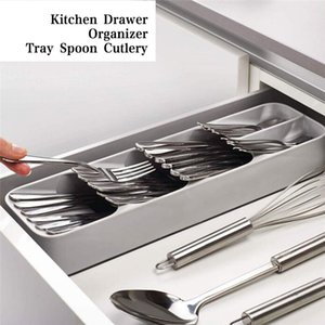 Wholesale Kitchen Drawer Organizer Tray Spoon Cutlery Separation Finishing Storage Box Cutlery Silverware Kitchen Storage Organization
