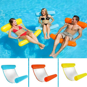 Wholesale Air Mattress Foldable Swimming Pool Water Bed Chair Inflatable Hammock Floating Bed Leisure Cushion Lounge Cushion Water Sports SH190814