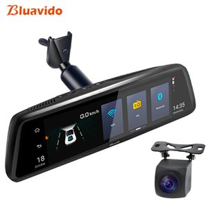 Wholesale Bluavido quot G Car rear view mirror DVR Android GPS Navigation ADAS Full HD P Video Camera Recorder Dual lens with bracket