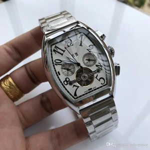 Famous Luxury Watch Men Watches Mechanical Automatic Wristwatches Top Brand Big Numerals Dial Calendar Display Full Stainless Steel Band
