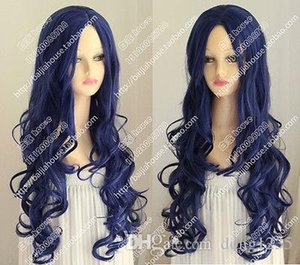 Wholesale cosplay wig Corpse Bride Tim Burton s Corpse Bride Blue curly hair Halloween wig
