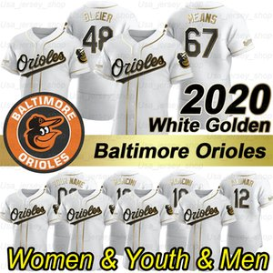 baltimore formaları toptan satış-Baltimores Sezon Cal Ripken Jr Dylan Bundy Chris Davis Mark Trumbo Rio Ruiz Chris Davis Trey Mancini Beyaz Golden Edition Formalar