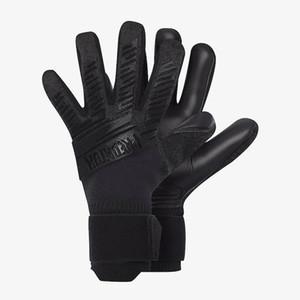 Professional Soocer Goalkeeper Gloves Black Goalie Football Gloves Luvas De Goleiro Man Training Latex Gloves