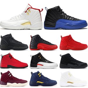 Mens 12s basketball shoes FIBA Game Royal Winterize Gym Red Michigan Bordeaux 12 The Master Flu Game Taxi sports sneaker trainers size 7-13