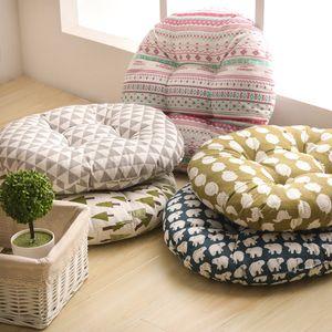 50* 50CM Home Sofa Seat Cushion Round Futon Mat Cushions Office Breathable Chair Cushion Chair Sofa Seat Decoration Gift DBC DH0761-1