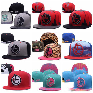 Wholesale 2019 summer style YUMS smile leopard leather usa flag stars Baseball Caps Men Women Unisex gorras bones Snapback Hats