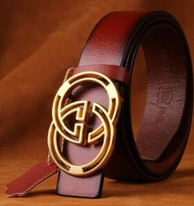 Wholesale 2019 Hautton new arrival genuine leather belt Luxury High Quality Designer Belts Fashion Geometric pattern buckle belt mens womens belt