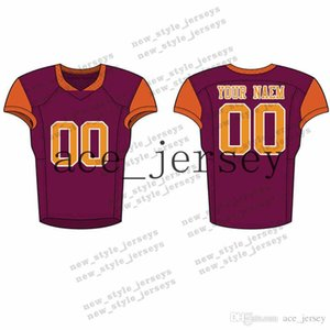 fútbol ejército al por mayor-84Men Youth Football Jerseys Army Green Wine Red Bordado Logotipos Cosido Personalizado Cualquier nombre Any number Jerseys