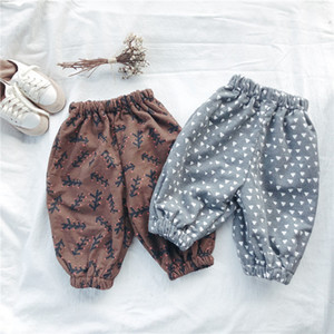 Wholesale Autumn and winter children's clothing ins girls loose children's small children's pants Korean version of the cotton thickening