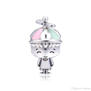 Wholesale 2019 Mother s Day Sterling Silver Jewelry Propeller Hat Boy Charm Beads Fits Pandora Bracelets Necklace For Women DIY Making