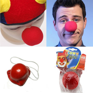 Wholesale Cosplay Clown Ball Perform Red Nose Sponge Make Up Halloween Party Halloween Party Masquerade Decoration Sponge Nose Props