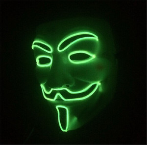 Wholesale Halloween Mask LED Light Up Flashing Mask The Glowing Fox Mask Great Funny Masks Festival Cosplay Costume Supplies Glow In Dark ST003