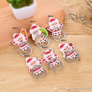 Wholesale UK UK0001 price Universal Degree Christmas design Finger Ring Holder Phone Stand For Samsung Huawei Mobile Phones Mounts