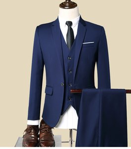 Three piece suit Groom Wedding Tuxedos marriage dressed factory DHL free shipping,high-end classical men cheap dresses suit 2019 NO shirt on Sale