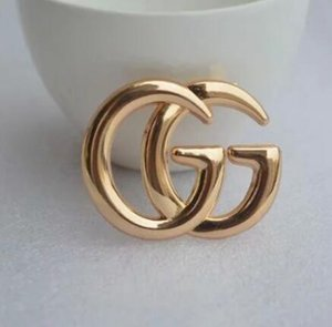 Luxury Designer Exquisite Double Letter G Brooch For Women Statement Brand Fashion Brooches Pins Accessories Jewelry Gift 5339 on Sale