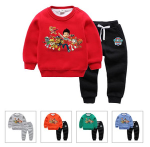 Wholesale The New Korean Autumn and Winter Children's Suit of 2019 Two-piece Girl's Baby's Sanitary Wardrobe and Boy's Plushing and Thickening Thermal