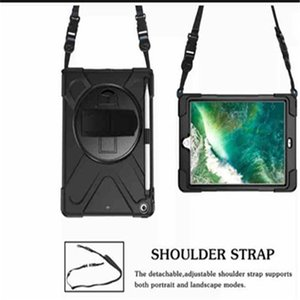 Wholesale Hybrid Shockproof Armor Holder with Shoulder Belt and Hand Strap for New iPad pro 12.9 Protective case have Pen slot