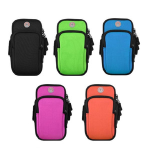 Wholesale mobile arm band cover pouch for sale - Group buy Sport Armband Case Zippered Fitness Running Arm Band Bag Pouch Jogging Workout Cover For Mobile Plus Smart Phone Bag inches