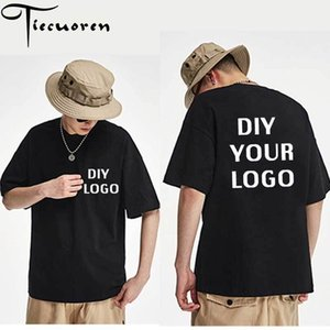Wholesale customizing t shirts resale online - customized logo Print T shirts half sleeve homme tees Drop Shipping men clothing DIY your Logo Harajuku cotton tshirts MX200613