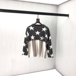 Wholesale 19ss France Paris luxury autumn and winter latest high quality mohair men s designer fashion long sleeved sweater tag top hot sale