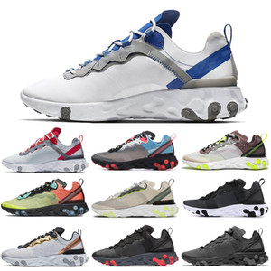 Wholesale New react element running shoes for men women WHITE ROYAL RED triple black Orange Peel mens trainer sports sneakers runners