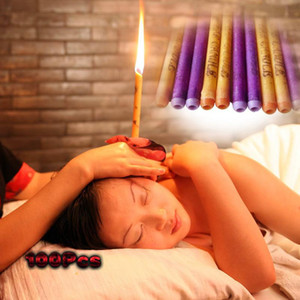 Hot Sale 100Pcs= 50Pairs Cheap And High-Quality Therapy Medical Natural Beewax Ear Candles & Multicolor Ear Care Candles