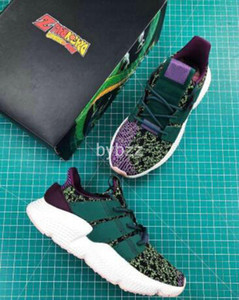 Wholesale Dragon Ball Z x Prophere Cell Purple Green Casual Shoes High Quality Man Woman Tiger Camo Shoes