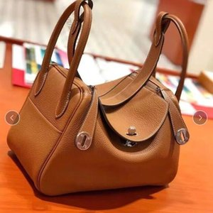 Wholesale The New Medicine Cabinet In Baotou Layer Cowhide Single Shoulder Bag Leather Handbag Girls Women Totes Purses Designer Brand Name