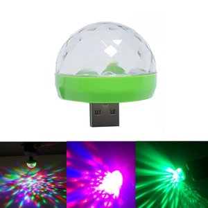 Mobile USB Music Stage Light Mini Colorful LED Party Club Disco DJ Light Crystal Portable Magic Ball Effect Lights Sound Control