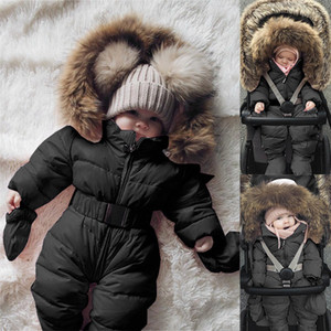 Wholesale baby boy clothes resale online - CHAMSGEND Winter Jacket Outerwear Infant Baby Boy Girl Clothing Romper Jacket Hooded Jumpsuit Warm Thick Coat Outfit June10